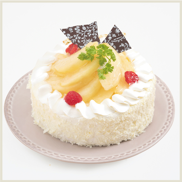 【8/8〜16限定】白桃のショートケーキ〜山梨県大糖領白桃〜