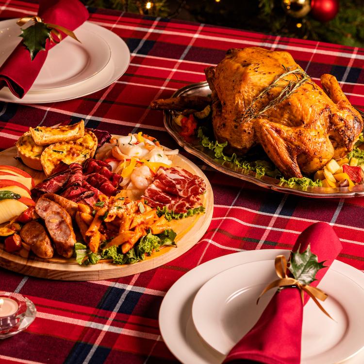 【クリスマス限定】はかた地どりオーブン焼きとデリ8種盛合せ