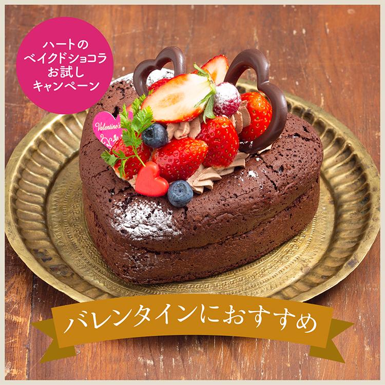【特典付き】紅ほっぺいちごとハートのガトーショコラ