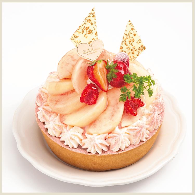 【7月限定】白桃とマスカルポーネチーズのタルト